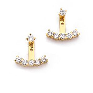 gorjana shimmer ear jacket earrings